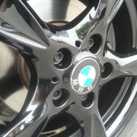 BMW Gloss Black Alloy Wheels Painting Nottingham Derby & Long Eaton