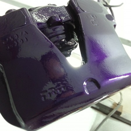 Focus RS Brake Cadburys purple Caliper Painting Nottingham Derby and Long Eaton