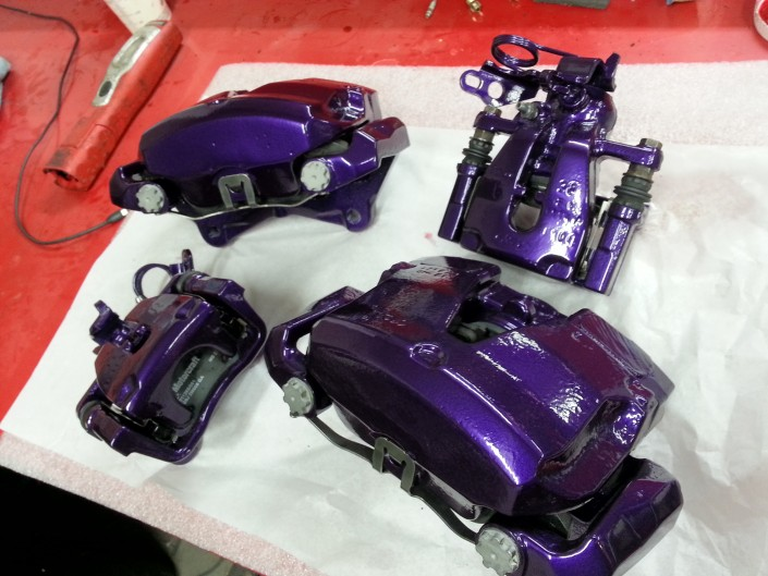 Focus RS Brake Cadburys purple Caliper Painting Nottingham Derby and Long Eaton