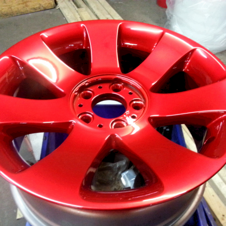 BMW Candy Red Alloy Wheel Painting Nottingham, Derby & Long Eaton