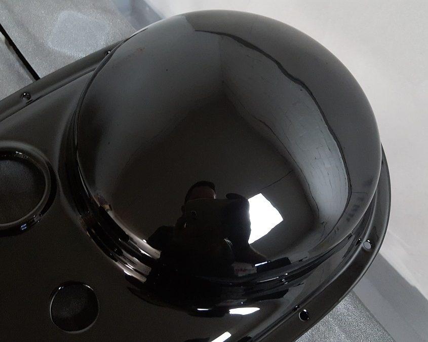 BSA motorbike engine shadow chrome effect paint