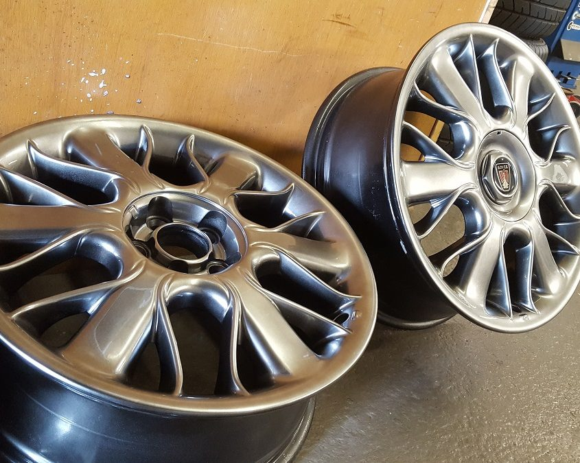 Rover alloy wheels shadow chrome effect finish