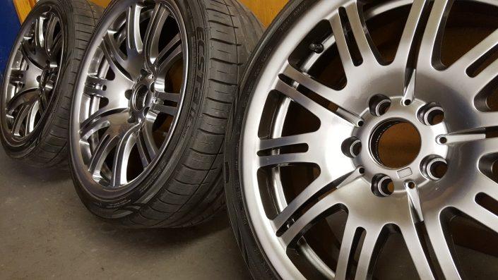BMW alloy wheels shadow chrome effect finish Nottingham, Derby & Long Eaton