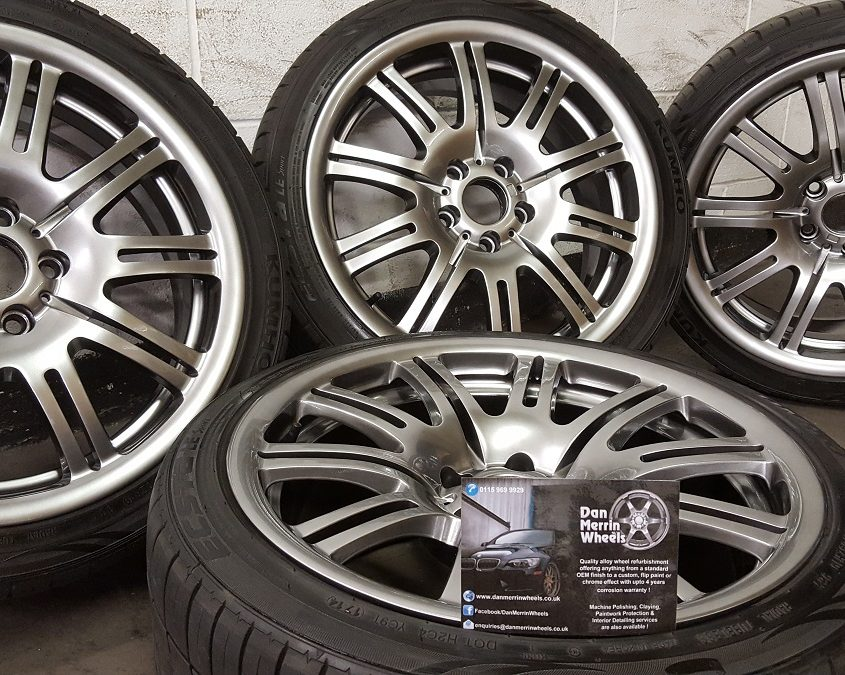 BMW alloy wheels shadow chrome effect finish Nottingham, Derby & Long Eaton