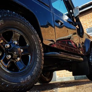 machine polishing and paintwork correction and detailing - Land Rover Defender