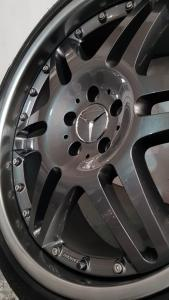 split rim alloy wheel refurbishment, full strip and refurb and reseal Mercedes AMG Brabus wheels