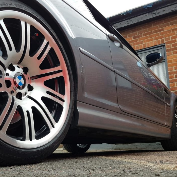 BMW E46 M3 OEM diamond cut alloy wheel refurbishment Nottigham, Derby, Long Eaton